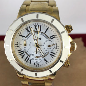 a_line's Marina collection Gold Tone Chronograph